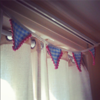 Crochet/Textile Crib Bunting