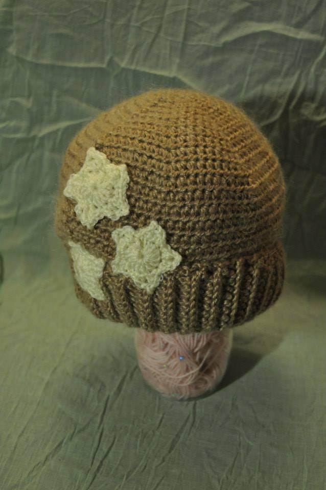 Mohair Blend Star Hat