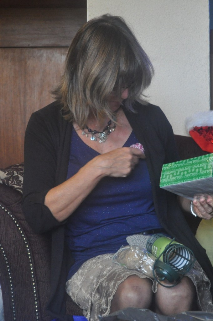 Aunty Jant and a crochet brooch
