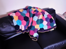 Crochet Hex Blanket £100